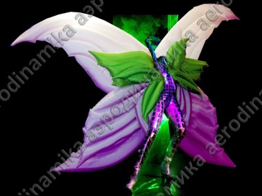 Inflatable butterfly costume