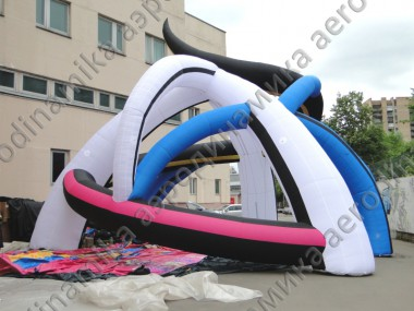 """The Earth's Breath""custom shaped inflatable tent"
