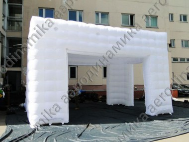 Inflatable cube tent 10×10×6 meters