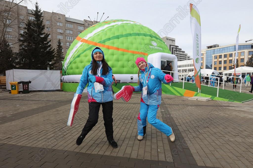 Inflatable dome for Sberbank