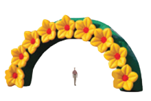 Decorative Arch with Flowers