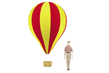 Montgolfier-shaped on suspension