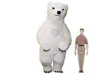 Bear brown/white (furry)